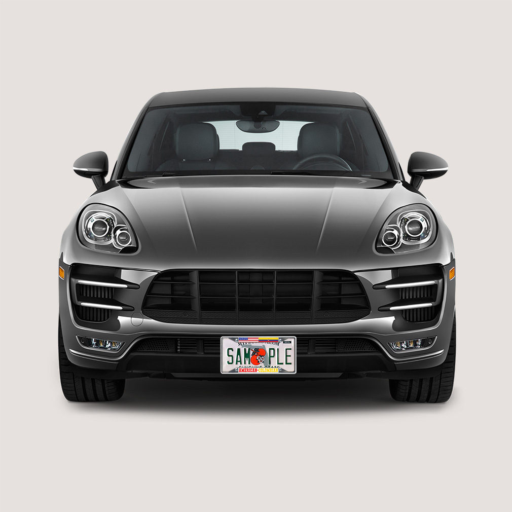 Colombia License Plate Frame: License Plate Frame Vinyl Insert American-Colombian